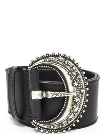 Etro Black Leather Belt