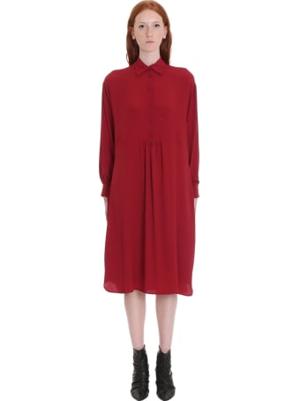 Mauro Grifoni Dress In Bordeaux Tech/synthetic