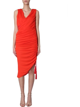 Lanvin Draped Midi Dress