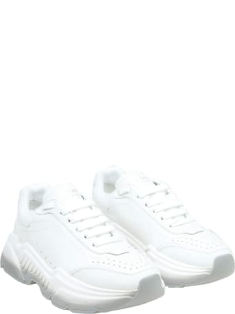 Dolce & Gabbana Daymaster Sneakers In White Leather
