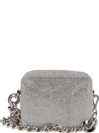 Kara Silver-tone Crystal Mesh Camera Bag