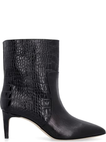 Paris Texas Croco-print Leather Ankle Boots