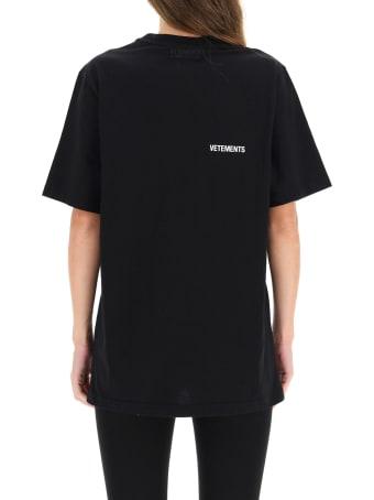 VETEMENTS T-shirt With Logo Print