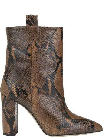Paris Texas Snake Ankle Boots