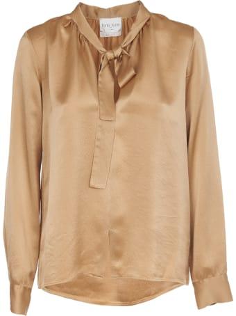 Forte_Forte Camel Silk Satin Shirt