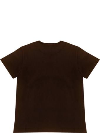 Dolce & Gabbana Brown T-shirt With Frontal Press Dolce&gabbana Kids