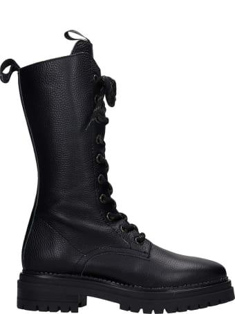 Pedro Miralles Dakota Combat Boots In Black Leather