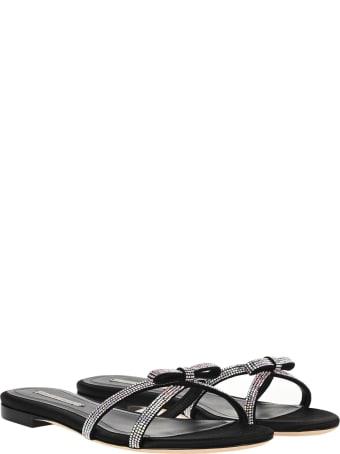 Marco de Vincenzo Crystal-embellished Slippers