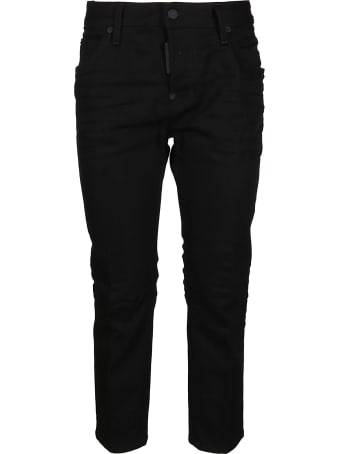 Dsquared2 Black Cotton Blend Trousers