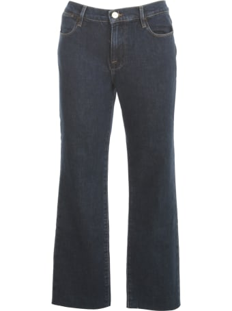Frame Straight Jeans W/fringes On Bottom