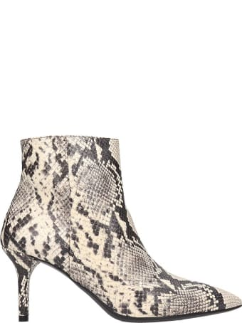 Janet & Janet Ankle Boots In Animalier Leather