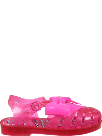 Melissa Fuchsia Sandals For Girl With Bow