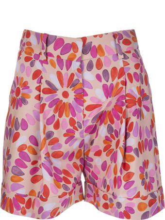 Gianluca Capannolo Multicolour Cotton Floral Print High-waisted Shorts