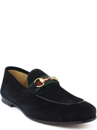 Gucci Black Suede Horsebit Loafer