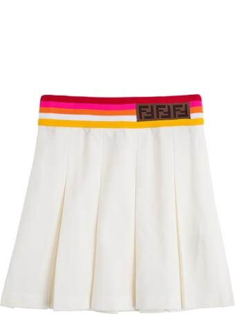 Fendi Cotton Piquet Skirt