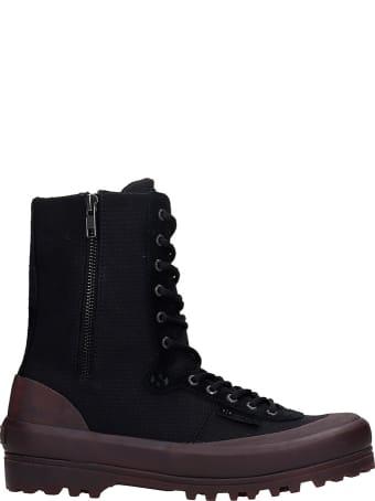 Superga Cotseu Sneakers In Black Canvas
