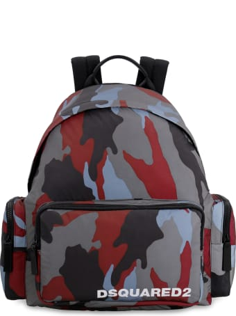Dsquared2 Camouflage Print Nylon Backpack