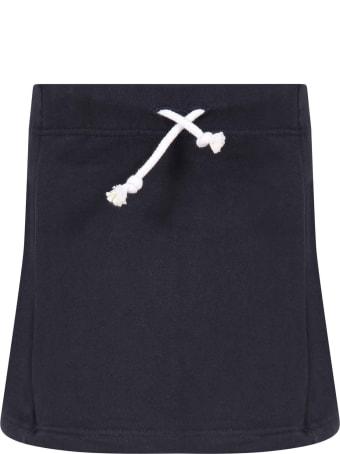 Raquette Blue Skirt For Girl With Logo