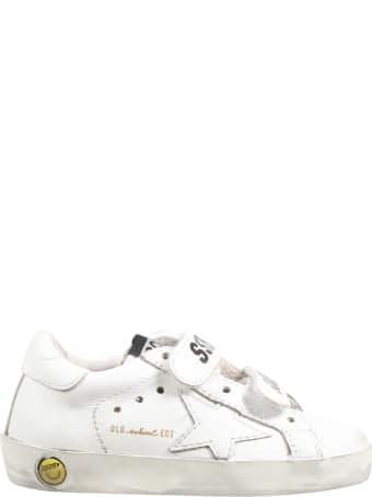Golden Goose White ''old School'' Sneaker For Kids