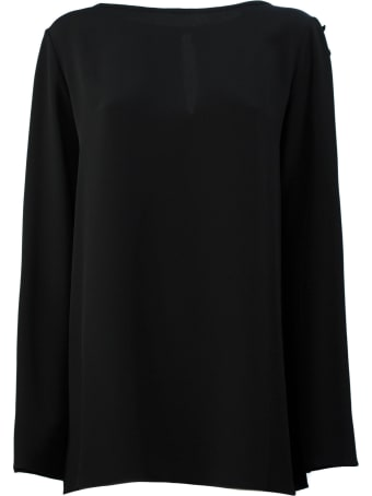 Antonelli Blouse In Black Silk Blend