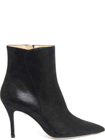 Roberto Festa Else Ankle Boot In Black Fabric