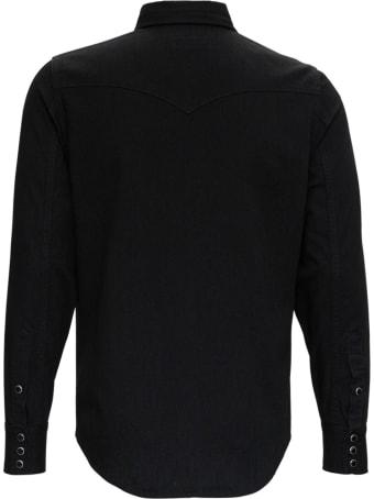 Saint Laurent Black Western Denim Shirt