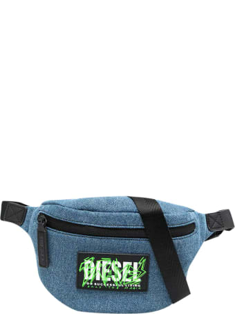 Diesel Blue Denim Belt Bag