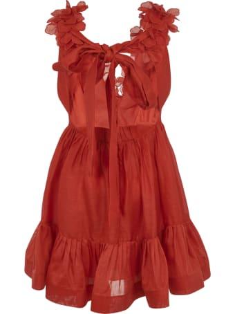 Zimmermann Floral Applique Sleeveless Dress