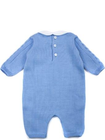Little Bear Turquoise Cotton Romper