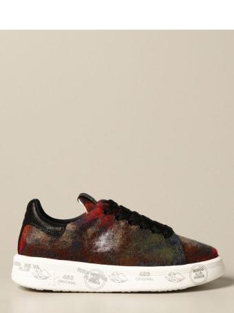 Premiata Sneakers Belle Premiata Sneakers In Denim And Wool