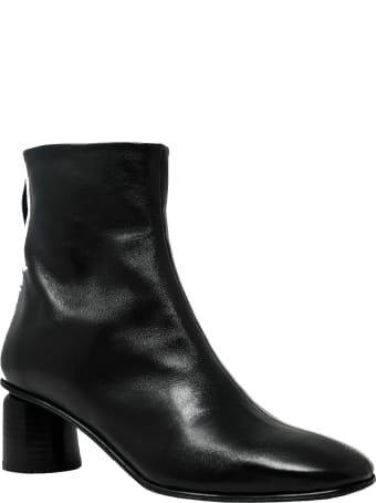 Halmanera Anya13black Leather Ankle Boots