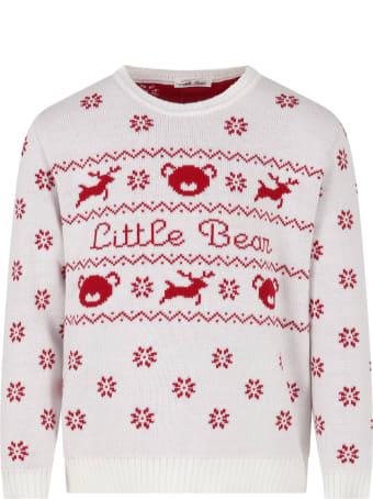 Little Bear White Sweater For Kids