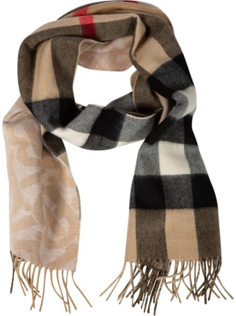 Burberry Fringed Edge Detail Check Scarf