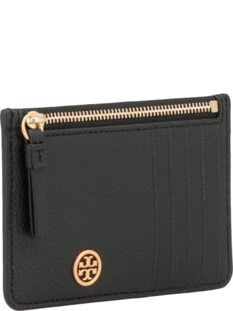 Tory Burch Pebbled Leather Card Holder