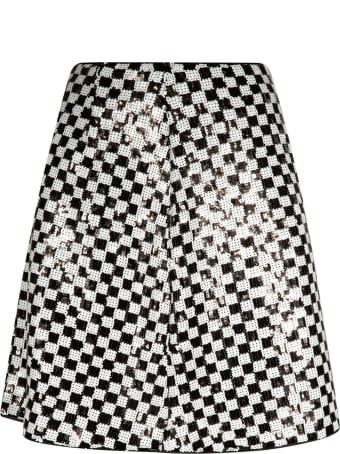 Emporio Armani Check Flared Skirt