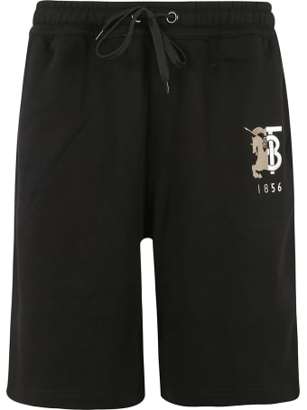 Burberry Embroidered Logo Drawstring Shorts