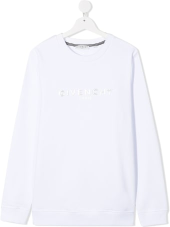Givenchy White Jersey Sweatshirt With Logo