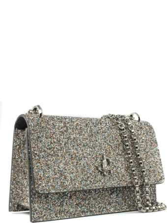 Jimmy Choo Multicolor Glitter Clutch Bag