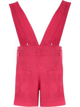 Isabel Marant Raspberry Pink Lyocell Shorts