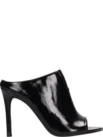 Jeffrey Campbell Black Patent Leather Sandals