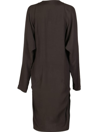Rick Owens Brown Wool-blend Dress