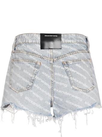 Alexander Wang High-rise Cut-off Denim Shorts