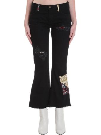Alanui Jeans In Black Denim