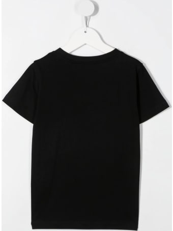 Balmain Unisex Kid Black T-shirt With Embossed Logo
