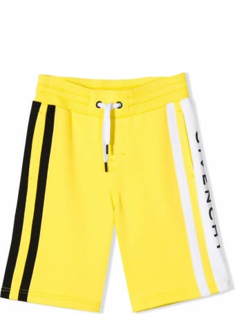 Givenchy Yellow Cotton Blend Shorts