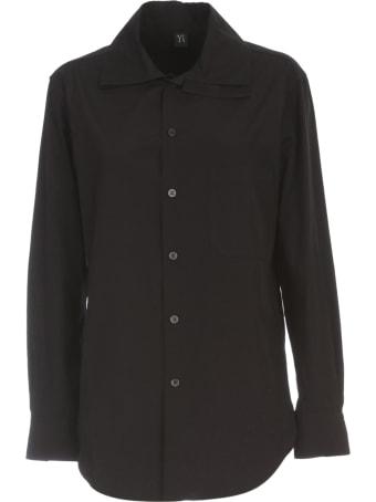 Y's U Layered Collar Shirt W/pocket