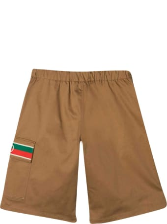 Gucci Shorts With Web Decoration