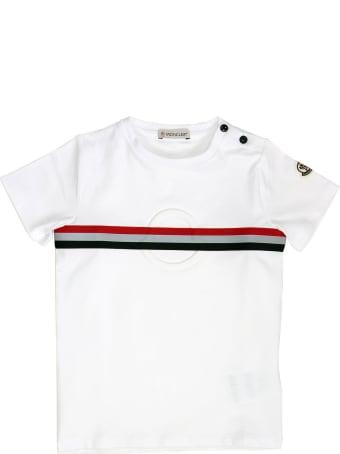 Moncler Logo Cotton T-shirt White