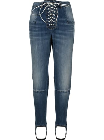 Ben Taverniti Unravel Project Unravel Laced Stirrup-hem Jeans