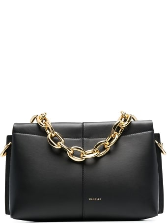 Wandler Carly Handbag In Black Leather With Logo